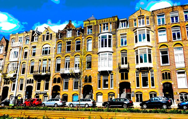 Amsterdam FLW 0786 gqalposter